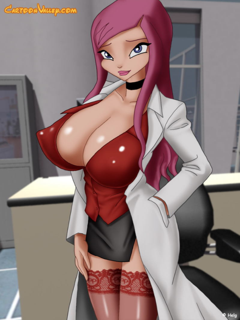 Roxy seems to be too slutty for a scientist...