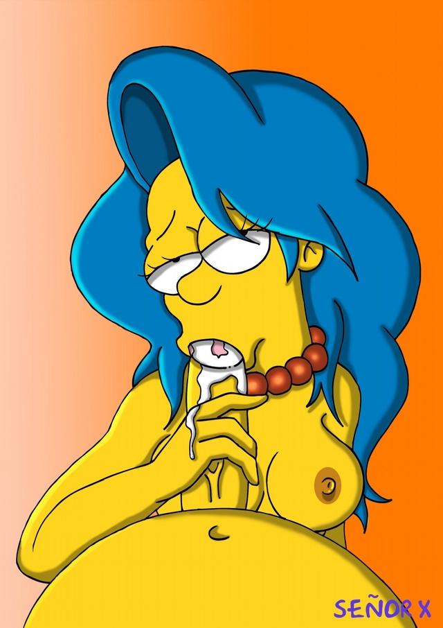 Lisa Simpson Marge Simpson Maggie Simpson Maude Flanders Manjulla Selma Bouvier Mindy Simmons Allison Taylor Miss Hoover IMG_9382.JPG