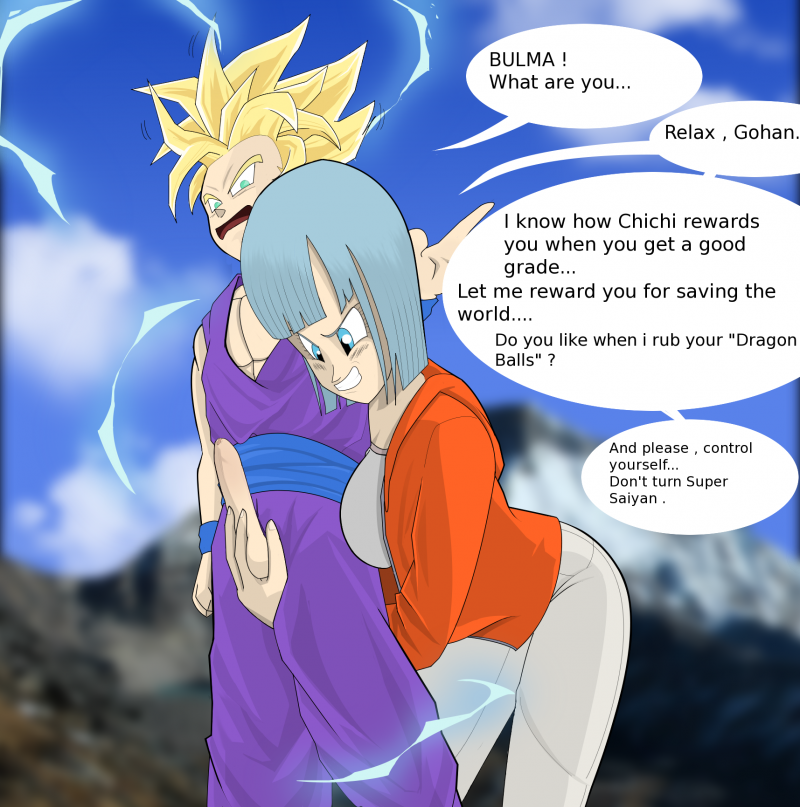 Bulma and Gohan want attempt some joy right now