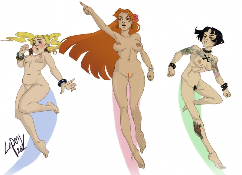 Bubbles And Blossom Nude Powerpuff Girls