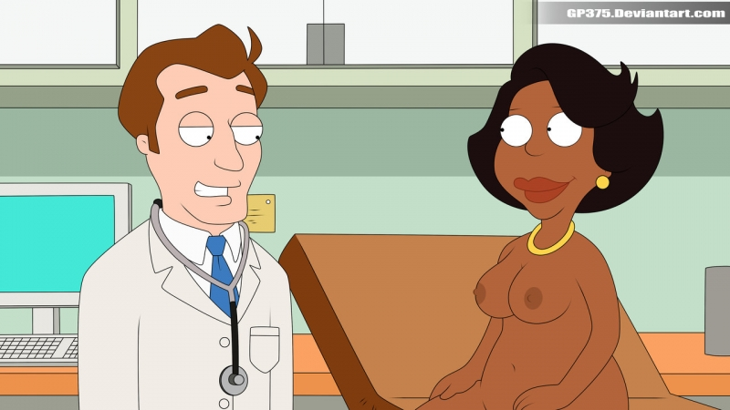 Doctors like to check Donna Tubbs's big round tits!