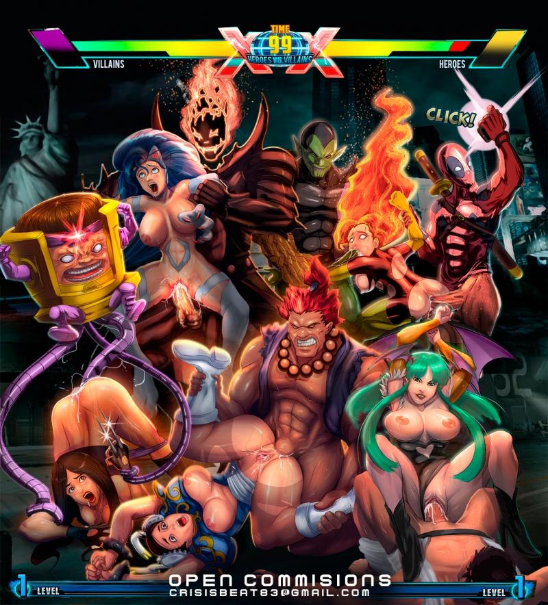 1363510 - Akuma Chun-Li Crisisbeat Darkstalkers Deadpool Dormammu Felicia MODOK Marvel Marvel_vs_Capcom Morrigan_Aensland Phoenix Ryu Statue_of_Libert