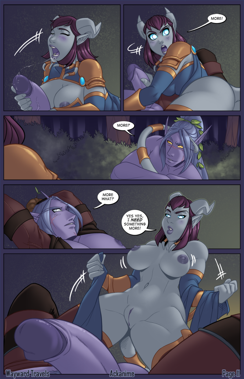 World of Warcraft pornography comics - [Ackanime] Wayward Travels (World of Warcraft) [Ongoing]