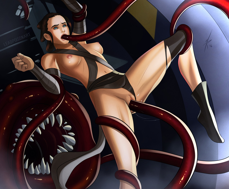 Rey is attacked by some tentacled monster!