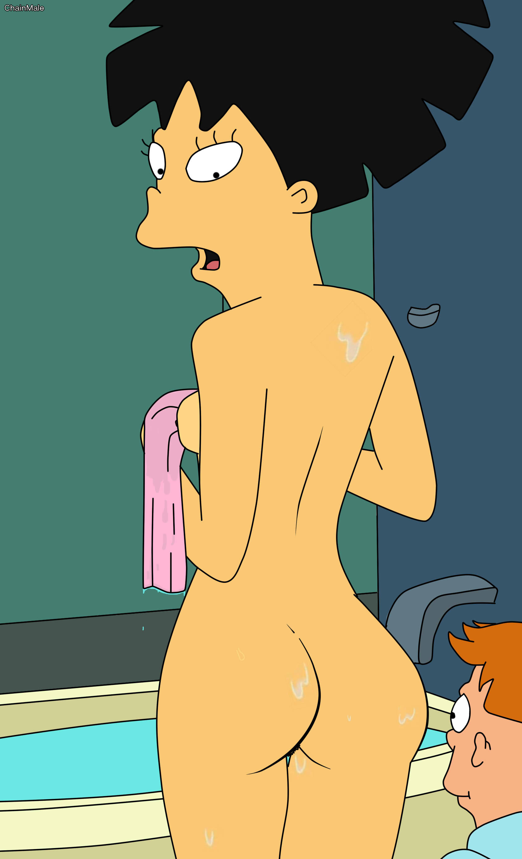 Amusing Leela amy futurama naked yes good