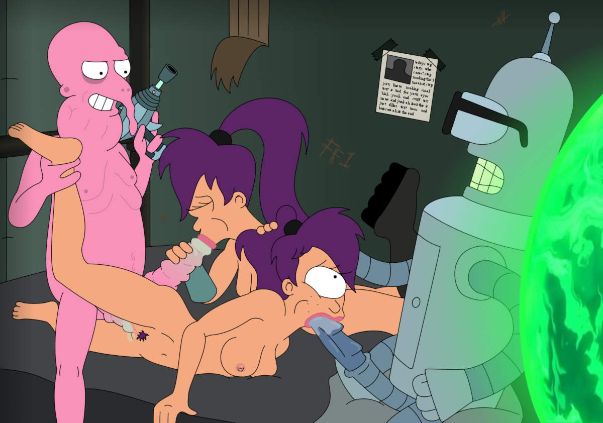 Futurama leela and amy nude think