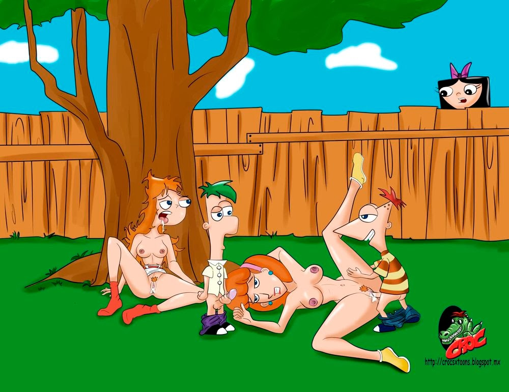 all the girls off of phineas and ferb naked