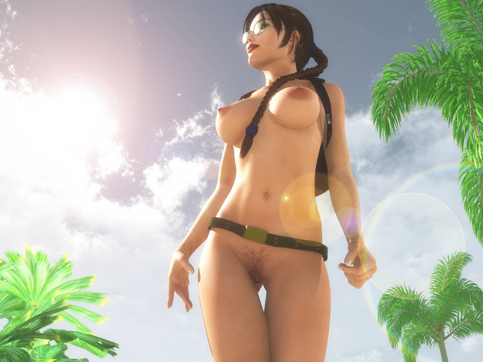 Lara Croft Nude In Bus 43