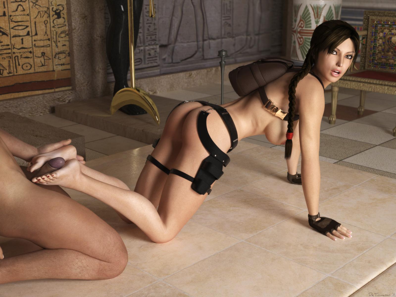 3D Tomb Raider Xxx feet wank - lara croft hentai doujinshi