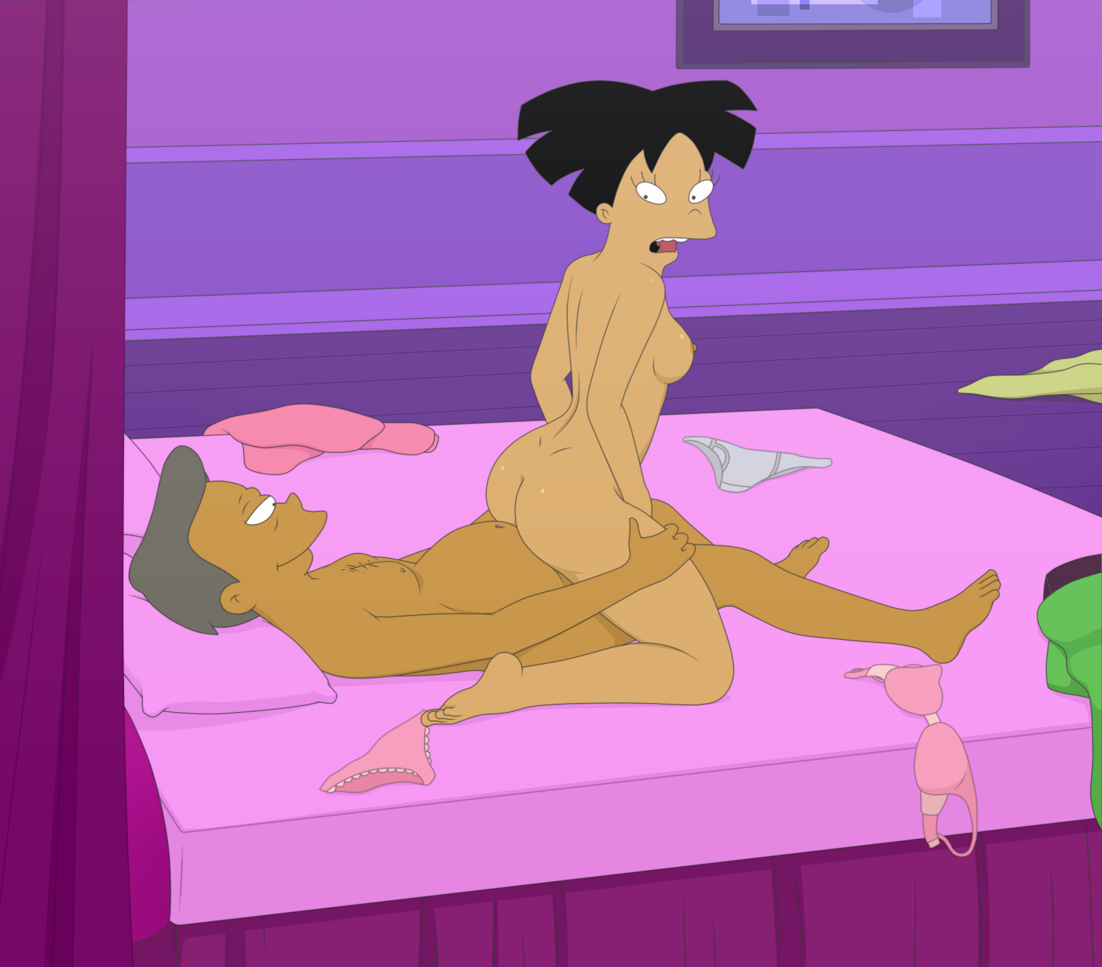 Futurama leela and amy nude are