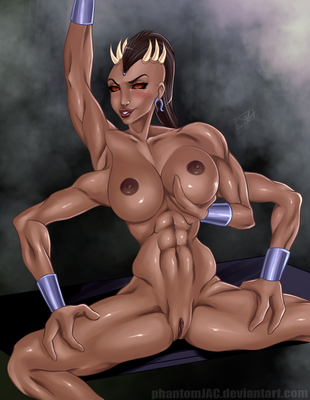 beautiful cartoon gets a double penetration from a horny cyborg