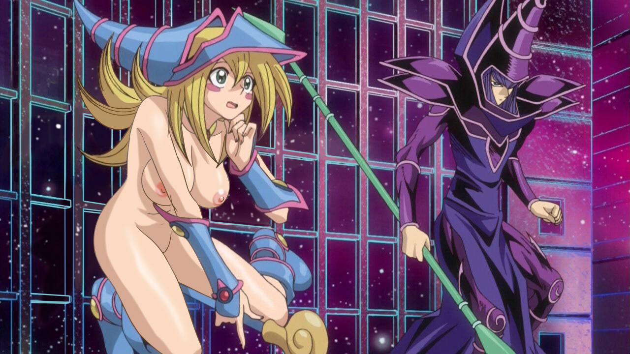 Dark magician girl struggles with yugioh