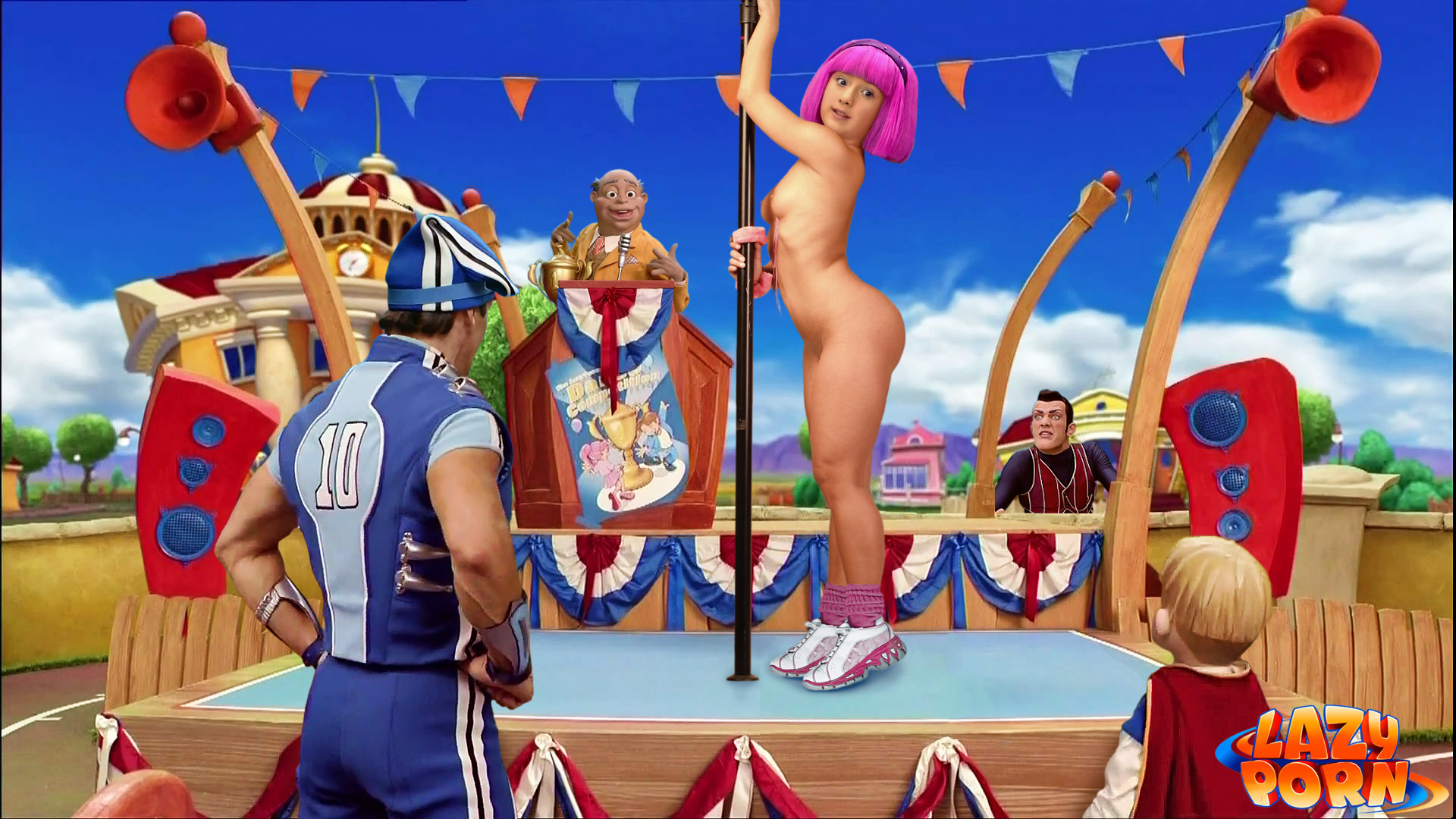 stephanie naked lazy town
