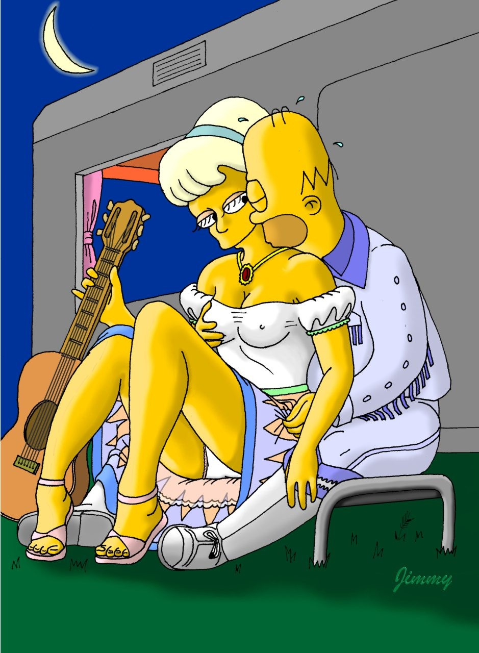 3D Porno Simpson homer simpson teasing lurleen lumpkin