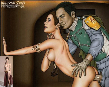 And this time Queen Leia got indeed torn up... by Bobba Fett!