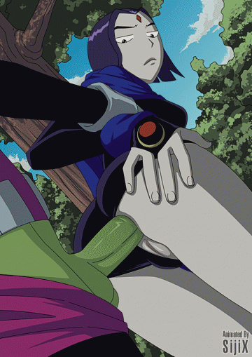 For Raven getting Beastboy's gigantic green man rod in her pink hole seems to be a pretty normal outdoor action...