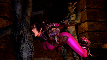 Taki is still fully clothed while getting fucked by some... lizardmen?!