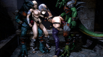 Ivy and her sex-positive girlfriend heads into dungeons pretty permanently - they just like to be banged by sloppy lizardmen!