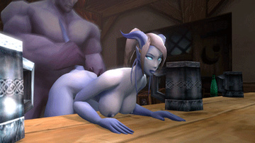 Draenei male fuck busty Draenei slut in tavern