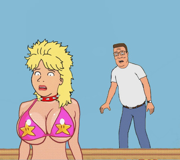 Hank Hill really like hunt on Luanne Platter cooter