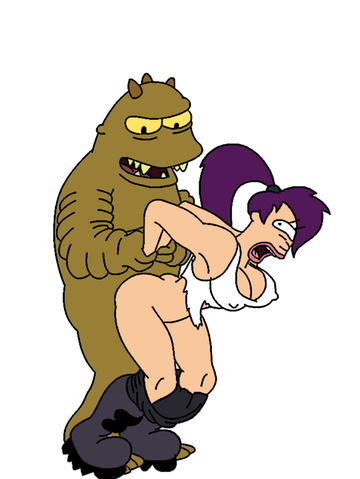 Watch Leela Turanga gets taken from behind by some brutish alien!