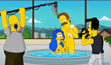 Marge Simpson always wanted to shoot porn with ned!