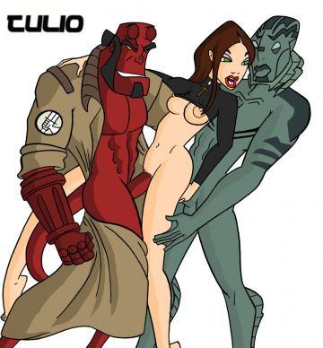 hellboy cartoon porno kreslený chapadlo porno
