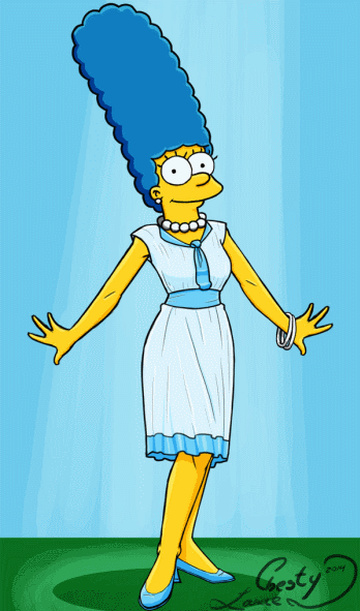 Wait a second to see Marge Simpson naked!