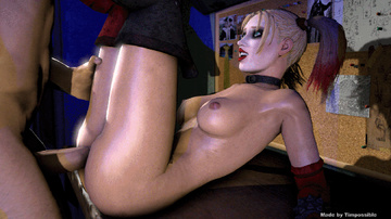 Muscle paramour pulverized big-titted  Harley Quinn