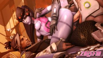 Widowmaker loves to be double penetrated!