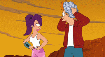Leela Turanga is checking how quick can Fry respond on her nude cupcakes...