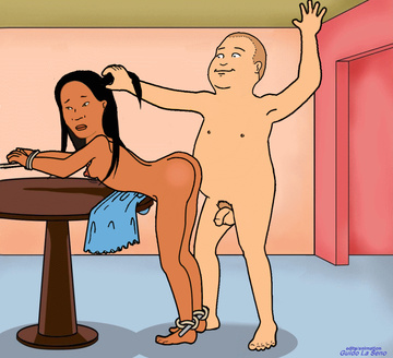 Bobby Hill got his opportunity to boink ebony female with pointy boobies!