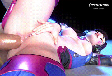 D.Va enjoys this anal sex a lot