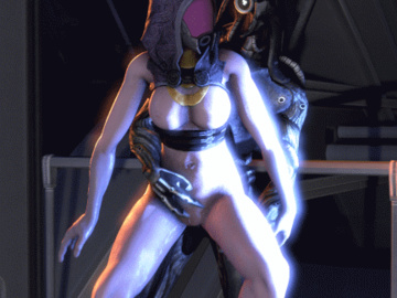 Kairi 1119329 - Mass_Effect Tali'Zorah_nar_Rayya animated geth legion quarian.gif