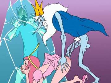 Princess Bubblegum Finn 869111 - Adventure_Time Finn_the_Human Ice_King MNOGOBATKO Princess_Bubblegum animated.gif