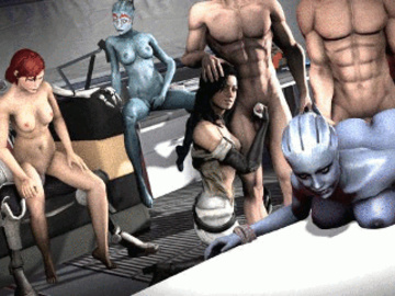 1077617 - Asari Commander_Shepard Doctor_Pop FemShep Liara_T'Soni Mass_Effect Miranda_Lawson Mordin_Solus Salarian Samara animated.gif