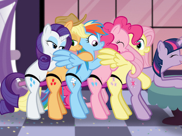 Twilight Sparkle Rarity Fluttershy Princess Cadance Applejack Pinkie Pie applejack_mlp_0999_shentai.org.gif