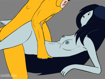 Marceline Jake Finn 1455473 - AEHentai Adventure_Time Finn_the_Human Jake_the_Dog Marceline animated sandyrex.gif