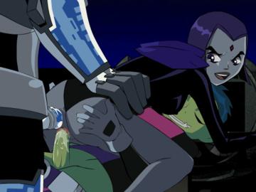1052545 - Beast_Boy Cyborg DC Raven Teen_Titans animated.gif