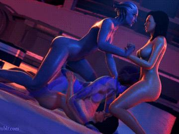 Liara T'soni Miranda Lawson 1596575 - Bioshock Bioshock_2 Cortana Elizabeth Halo Halo_3 Liara_T'Soni Mass_Effect Mass_Effect_3 Miranda_Lawson animated crossover sfmporn(metssfm) source_filmmaker.gif