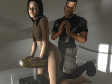 1100148 - Commander_Shepard Mass_Effect Miranda_Lawson andreygovno animated.gif