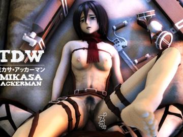 Mikasa Ackerman Annie Leonhart Sasha Blause Ymir 01_14_07_20_Shingeki_no_Kyojin_Mikasa_480.gif