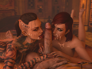 1315390 - Commander_Shepard Dante Devil_May_Cry FemShep Jack Mass_Effect Mass_Effect_3 animated crossover em805 source_filmmaker.gif