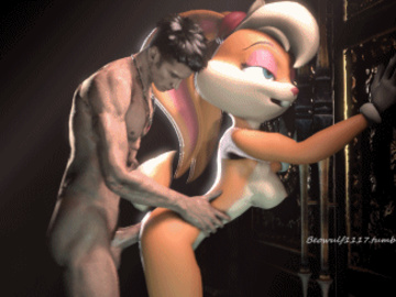 Lola Buggs Bunny 1255495 - Dante Devil_May_Cry Lola_Bunny Looney_Tunes Space_Jam animated beowulf1117 crossover source_filmmaker.gif