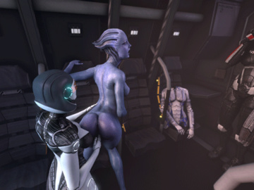 1384334 - Commander_Shepard EDI FemShep Liara_T'Soni Mass_Effect Mass_Effect_3 animated em805 source_filmmaker.gif