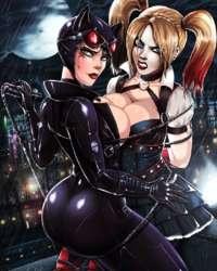 Joker Catwoman Harley Quinn Batgirl Batman Batman  Poison Ivy Batgirl Star Sapphire  Robin Terry McGinnis Carrie Kelley 2015_07_29_arkham_cunts.gif