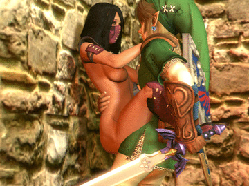 1729218 - Legend_of_Zelda Link Mileena Mortal_Kombat Super_Smash_Bros. animated crossover source_filmmaker.gif