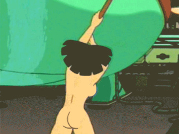 Amy Wong Leela Turanga Linda van Schoonhoven 1084305 - Amy_Wong DRcowcup36 Futurama animated.gif