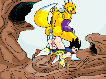 374422 - BadEndXXX Digimon Dragon_Ball_Z Renamon Vegeta animated crossover daily_dose meme.gif
