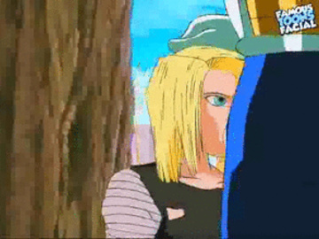 Android 18 Mai Freeza Angela 695547 - Android_18 Dragon_Ball_Z Vegeta animated famous-toons-facial.gif